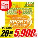 スポーツドリンク 粉末 グレープフルーツ味(パウダー)1L用 5袋入×20個セット(100袋)大容量 熱中症対策 ミネラル補給 …