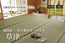 純国産双目織 い草上敷きカーペット【草津】 京間(本間)8畳(約382×382cm)