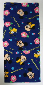 【子供用 浴衣】青 ジュニア ゆかた 女の子 13歳 14歳 15歳 16歳 仕立て上がり ミッキーマウス ディズニーキャラクター店頭在庫処分品 少々訳あり【大特価】