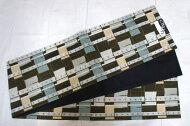京袋帯日本製MONOポリエステルおしゃれモダンリバーシブル【仕立て上がり・帯】特価品につき少々難有り