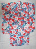 新品753七五三総絞り正絹紫系女の子7歳祝い着七歳着物長襦袢付※裏地と長襦袢はポリエステルです。※半衿は別売※メーカー見切り品の為染ムラ等有