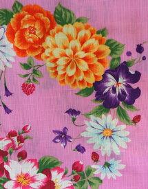 浴衣 SEIKO MATSUDA ブランド ゆかた ピンク 仕立て上り ブランド浴衣 ブランドゆかた 綿 浴衣 店頭見切り品につき少々難ありご容赦ください 大特価!