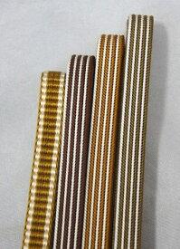 三分紐 正絹 Mサイズ 和装小物 長さ、約126cm シルク 三部紐 帯締め 帯〆 茶系 茶色 ブラウン メール便 レターパック対応可 代引き不可 ヤマトコンパクト対応