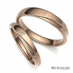 【刻印/送料/ギフト無料】【品質保証書付き】結婚指輪 ピンクゴールド k18pg マリッジ ペアリング 2本セット 天然ダイヤモンド ブライダル ペア結婚指輪 自社製造で安心の品質でお届け