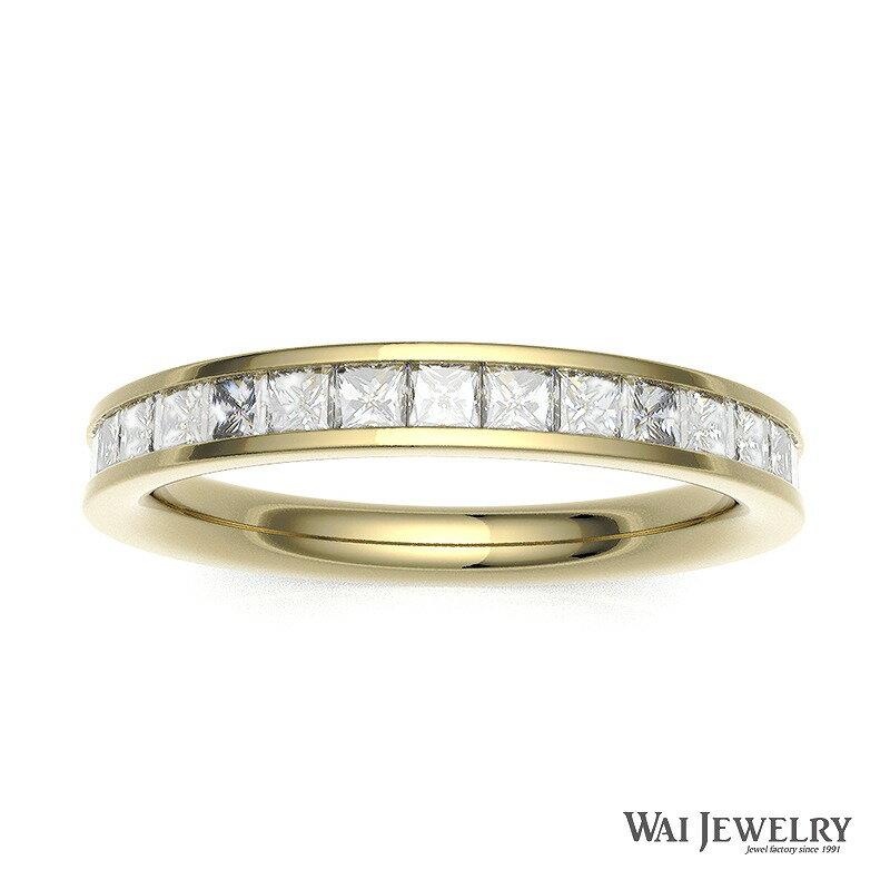 【刻印無料】K18YG プリンセスカットフルエタニティーリング ダイヤリング(0.7ctUP保証)【自社製造の高品質】 レール留め 天然ダイヤモンド 結婚指輪 マリッジリング エンゲージリング 20代女性 30代女性 40代女性 50代女性 上品指輪