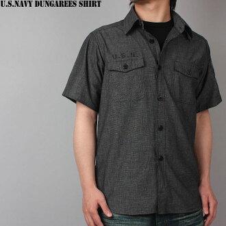 """美國海軍工裝褲襯衫短袖黑色 U.S.NAVY(Navy) 和講的這件襯衫海軍還說智商備註按鈕也轉載在海軍""""WIP""""徽章的左胳膊的工裝褲證明"""