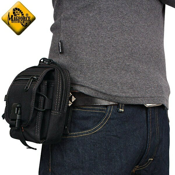 メンズ ミリタリー バッグ / MAGFORCE マグフォース MF-0307 M-1 Waistpack Black 【ウエストポーチ】《WIP》【E】 ミリタリー 男性 旅行 ギフト プレゼント