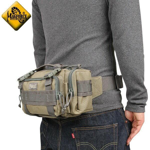 メンズ ミリタリー バッグ / MAGFORCE マグフォース MF-0402 Proteus Waistpack Tan/FGW ミリタリーバッグ 【ウエストバッグ】《WIP》【E】 ミリタリー 男性 旅行 ギフト プレゼント