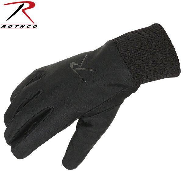 【10%OFFセール開催中】ROTHCO ロスコ BLACK LINED FOUR WAY STRETCHグローブ 【ミリタリーグローブ】【4464】《WIP》 ミリタリー 男性 ギフト プレゼント