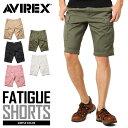 今だけ10%OFF!AVIREX アビレックス 6166118 FATIGUE SHORTS ファティーグ ショートパンツ《WIP》