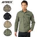 今だけ10%OFF!AVIREX アビレックス NAVAL PATCH SHIRT ネーヴァル パッチシャツ 6165100 メンズ ミリタリー トップス シャ...