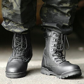 【13%OFF大特価】新品 米軍 サイドジッパータクティカルブーツ KA7023 メンズ ミリタリー ブーツ シューズ サイドジップ 脱ぎやすい サバゲー 装備 靴【E】【クーポン対象外】