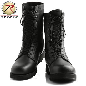 【今だけ15%OFF大特価】ROTHCO ロスコ G.I.TYPE リップルソール ジャングルブーツ BLACK 5050/ メンズ ミリタリー ブーツ サバゲー タクティカルブーツ