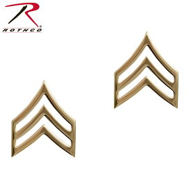 ROTHCO ロスコ 1643 Private Insignia 米陸軍三等軍曹階級章 ゴールド ミリタリー 装備 階級章 インシグニア 米軍 アメリカ軍 陸軍 サバゲー サバイバルゲーム/