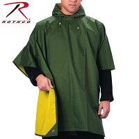 ROTHCOロスコリバーシブルラバーナイロンポンチョ【3624】メンズミリタリーレインウェア雨具レインポンチョ梅雨防水スポーツアウトドア《WIP》