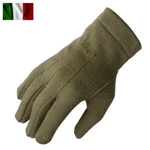 実物 新品 イタリア軍 AF ウールグローブ オリーブ【クーポン対象外】ミリタリー 軍物 メンズ