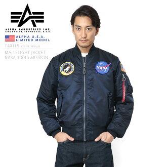 ALPHA アルファ USA 日本未発売 NASA 100th MISSION MA-1フライトジャケット《WIP》