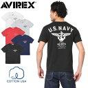 今だけ10%OFF大特価!AVIREX アビレックス 6173351 USAコットン USN ANCHOR Tシャツ《WIP》