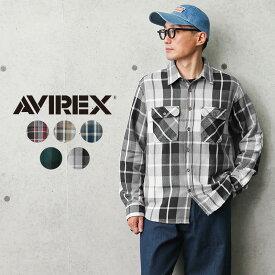 AVIREX アビレックス 6105134 デイリーウエア コットン フランネルシャツ【クーポン対象外】