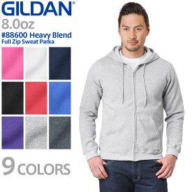 【メーカー取次】【XS〜XLサイズ】 GILDAN ギルダン 88600 Heavy Blend 8.0oz アダルト フルジップ スウェットパーカー Japan Fit 【クーポン対象外】《WIP》メンズ ミリタリー