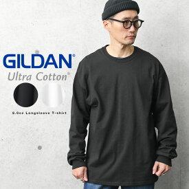【メーカー取次】GILDAN ギルダン 2400 Ultra Cotton 6.0oz 長袖 クルーネックTシャツ American Fit【Sx】