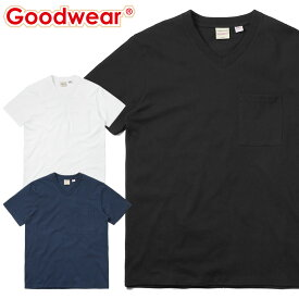 Goodwear グッドウェア 2W7-3508 USAコットン Vネック 四角ポケット Tシャツ / アメカジ 定番 ポケT 無地T