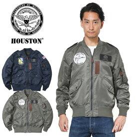 【20%OFFセール開催中】HOUSTON ヒューストン L-2 A/B フライトジャケット BLUE ANGELS / THUDERBIRDS/ミリタリー 軍物 メンズ  ギフト