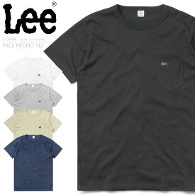 【28%OFF大特価】メンズ Tシャツ / Lee リー LT2858 パック ポケット 半袖 クルーネックTシャツ / トップス ポケットTEE パックTEE カットソー アメカジ カジュアル 無地 アウトドアブランド コットン