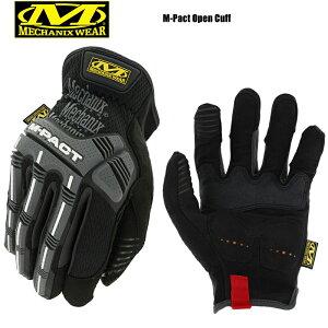 【最大18%OFF/割引クーポン対象品】MechanixWear メカニックスウェア M-pact Open Cuff Glove エムパクトオープンカフグローブ BLACK【MPC-58】/ミリタリー 軍物