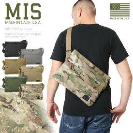 MIS エムアイエス MIS-1003 CORDURA NYLON パデッドショルダーバッグ / ボディーバッグ MADE IN USA(クーポン対象外)アメリカ製 ミリタリー ミリタリーバッグ