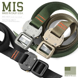 MIS エムアイエス MIS-1031 NYLON WEBBING タクティカルベルト MADE IN USA(クーポン対象外)アメリカ製 ミリタリー ミリタリーベルト ナイロンベルト ウェビングベルト