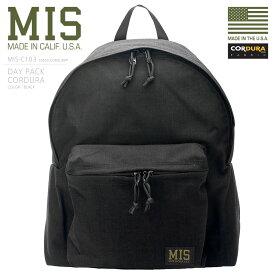 MIS エムアイエス MIS-C103 CORDURA NYLON デイパック / リュックサック MADE IN USA - BLACK(クーポン対象外)【キャッシュレス5%還元対象品】