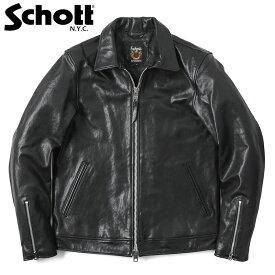 Schott ショット 3181076 シングルブレスト ライダースジャケット /【クーポン対象外】革ジャン レザージャケット アメカジ 定番 メンズ 男性 バイク
