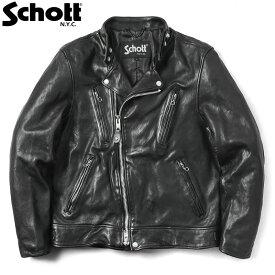 【12月30日13時までポイント10倍】Schott ショット 3191064 ダブルブレスト ライダースジャケット【クーポン対象外】【キャッシュレス5%還元対象品】