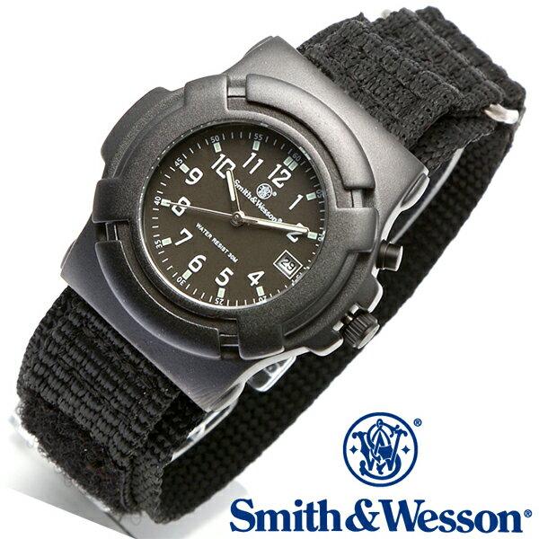 【クーポン対象外】 Smith & Wesson スミス&ウェッソン LAWMAN WATCH 腕時計 BLACK SWW-11B-GLOW《WIP》