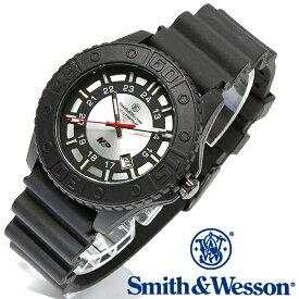 【クーポン対象外】 Smith & Wesson スミス&ウェッソン SWISS TRITIUM M&P WATCH 腕時計 BLACK/SILVER SWW-MP18-GRY《WIP》ミリタリー 軍物 メンズ 男性 ギフト プレゼント