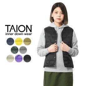 TAION タイオン TAION-001 Vネック インナーダウンベスト WOMAN【Sx】/ 防寒着 事務所着 オフィス着 スリムジャケット 旅行 トラベル 飛行機