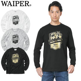 WAIPER.inc 1819112 WORK IS OVER ロングスリーブ Tシャツ《WIP》ミリタリー 軍物 メンズ 男性 ギフト プレゼント ロンT 長袖Tシャツ