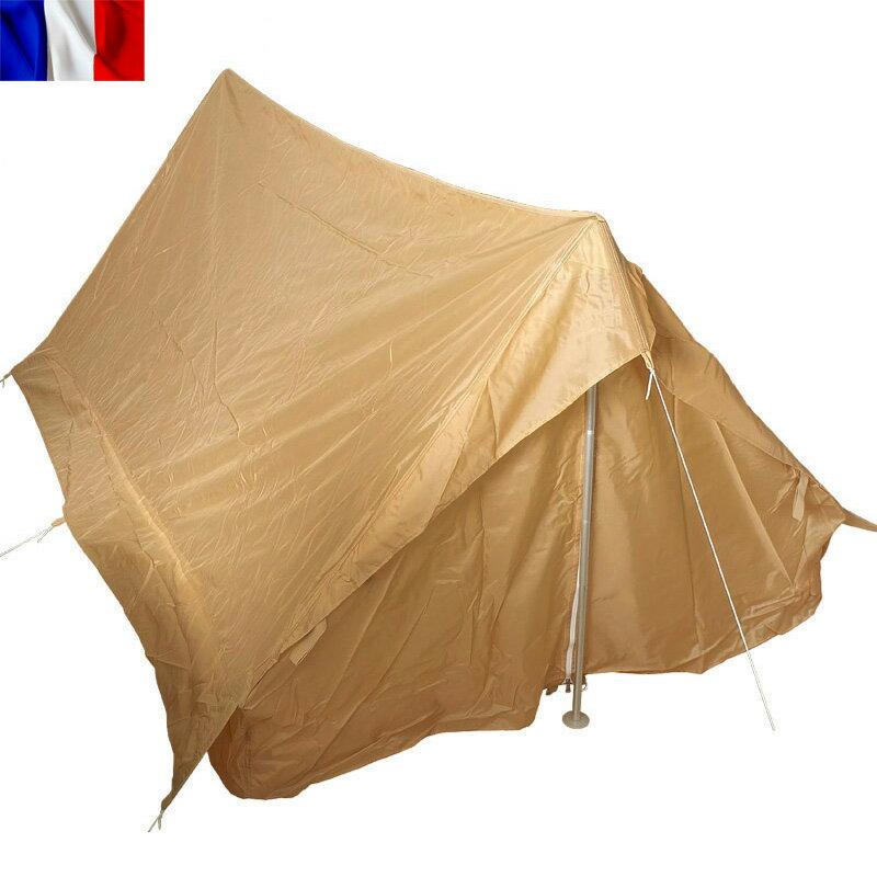 今だけ15%OFF大特価!実物 新品 フランス軍 F1 テントセット 2人用 ベージュ