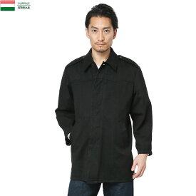 実物 ハンガリー軍 ワークジャケット BLACK染めミリタリー 軍物 メンズ  【Sx】
