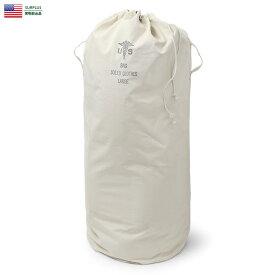 実物 新品 米軍 キャンバス ランドリーバッグ LARGE 9HOLE / 【クーポン対象外】ミリタリー アメリカ軍 軍物 実物放出品 ミリタリーバッグ