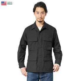 実物 新品 米軍 ブラック リップストップジャケット BLACK357【クーポン対象外】/ ミリタリー 軍物 実物放出品 アメリカ軍【キャッシュレス5%還元対象品】
