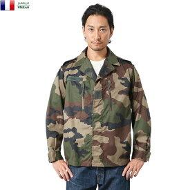 実物 新品 フランス軍 F-2ジャケット CCEカモフラージュ / テーラードジャケット ミリタリー メンズ 【キャッシュレス5%還元対象品】【Sx】