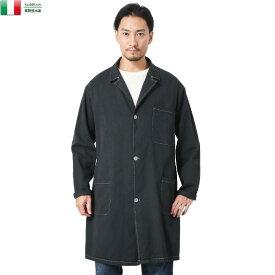 実物 新品 イタリア軍 コットンツイル ワークコート BLACK染め / ユーロミリタリー ヨーロッパ 軍物【クーポン対象外】