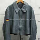 実物 USED ドイツ軍 BM(ドイツ連邦海軍) サブマリン レザージャケット / 古着 ミリタリー ユーロミリタリー ミリタ…