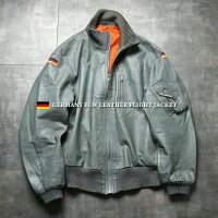 実物USEDドイツ軍BLW(ドイツ連邦空軍)レザーフライトジャケット【クーポン対象外】