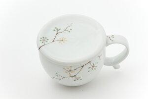 【和食器】【有田焼】【しょうが】おろし器付 生姜マグカップ ※木の実