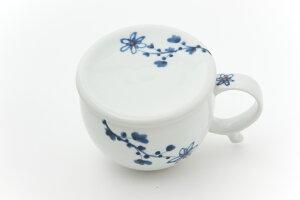 【和食器】【有田焼】【しょうが】おろし器付 生姜マグカップ ※古染花紋