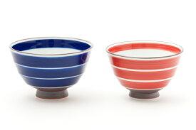 【和食器】【夫婦茶碗】【磁器】【ギフト】【ブライダル】有田焼 駒筋面取 ナガモチ ご飯茶わん お茶碗