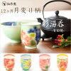 【母の日】有田焼の伝作窯彩茶碗1月梅